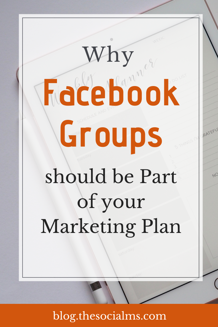 is why Facebook groups should be part of your marketing plan. So what about you? Are you already using Facebook groups? Do you have your own Facebook group? #facebook #facebookfeatures #facebookgroups #facebooktips #facebookmarketing #socialmedia #socialmediatips #socialmediamarketing
