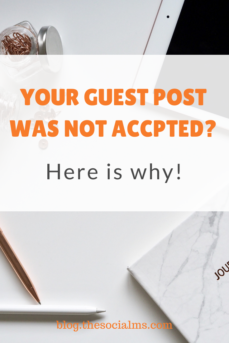 I know it can be tough to earn guest blogging opportunities on fairly high profile blogs. And it is getting harder by the day. Here are my reasons why I turn down guest post requests. #bloggingtips #bloggingforbeginners #startablog #blogging101
