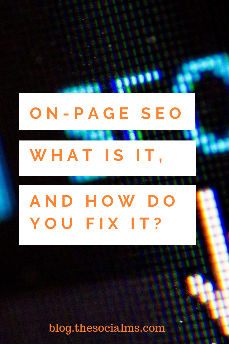 What's On-Page SEO, how do you do it, and why do you even need to do it? It's an important part of SEO, and without doing it, you will havea hard time ranking for any keyword! #seo #trafficgeneration #blogtraffic #bloggingtips #marketinginminutes