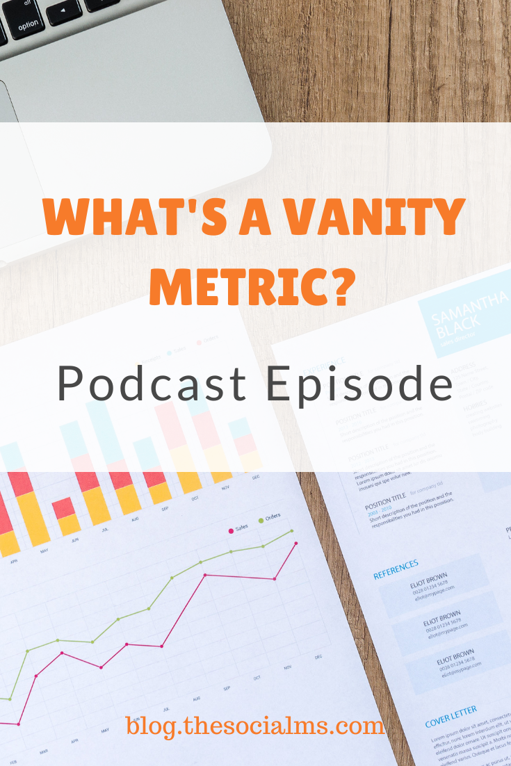 What is a vanity metric, and what isn't, will change all the time.  The difference between a vanity metric and a valuable metric is defined by the question you want to answer and by math. #vanitymetric #marketingmetric #googleanalytics #blogdata #marketingdata #marketinginminutes #analytics