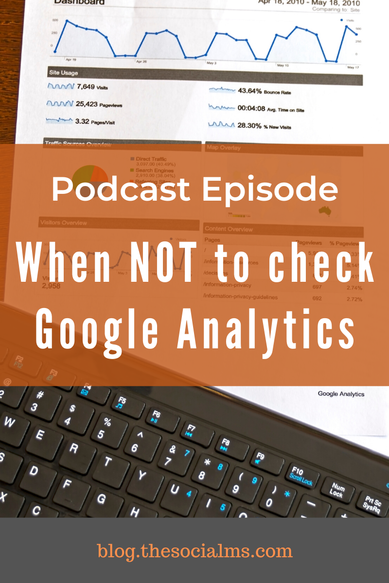 Google Analytics is a very powerful tool - but it's also an addictive and time-consuming piece of software - and if you check it too often, it can become a problem for your business. #googleanalytics #marketingmetrics #monitoring #blogdata #bloganalytics #marketingdata