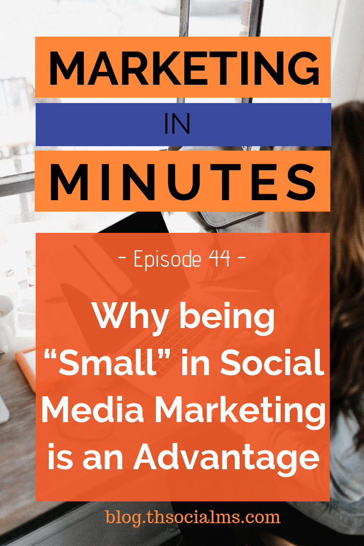 Social Media Marketing: Everybody is afraid of being the small brand on social networks - but the truth is, being small is your biggest competitive advantage. Learn why. #socialmedia #socialmediamarketing #socialmediatips #smallbusinessmarketing #startupmarketing #marketinginminutes