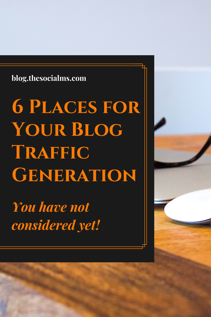 bloggers are always upfront in finding new sources of high value and high converting traffic. Here are the most important places you should consider for your blog traffic generation #blogtrafic #trafficgeneration #blogging101 #bloggingtips #startablog #bloggingforbeginners #bloggingsuccess