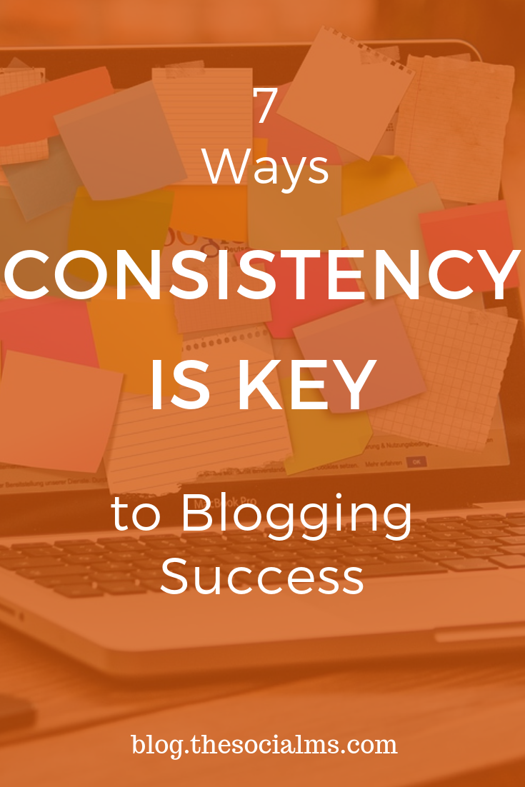 consistency is part of any online marketing or blogging success story. Yes, you should be willing to change and optimize your strategy. You should watch the results and skip what is not working. But you also need to keep going. If you stop you already failed! #consistency #bloggingsuccess #bloggingtips #onlinemarketing #digitalmarketing