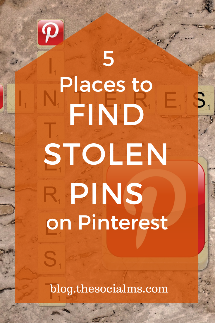 If you do not report your stolen pins, more and more of the marketing juice that you acquire on Pinterest will go to someone else. And that is not only frustrating it is going to hurt your business. How can you find your stolen pins? #pinterest #pinterestmarkting #pinteresttips #socialmedia #socialmediatips #socialmediamarketing