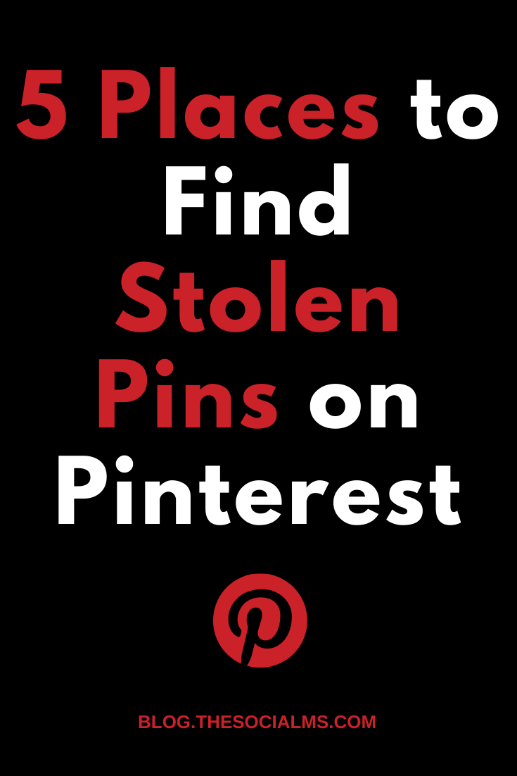 Stolen pins are a huge problem on Pinterest. They are not only annoying but can seriously hurt your traffic success. how the heck can you figure out if some of your pins have been stolen? #pinterest #pinteresttips #pinterestmarketing #socialmedia #socialmediatips #socialmediamarketing
