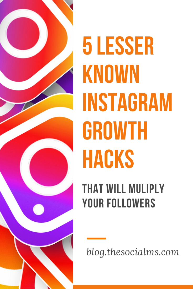 you already know who valuable your Instagram account can be. However, you might find that your follower numbers are stagnating. With these five Instagram growth hacks, you can get it moving again with a constant stream of new followers! #instagram #instagramtips #instagrammarketing #instagramstrategy #socialmedia #socialmediatips #socialmediaforbloggers #socialmediamarketing