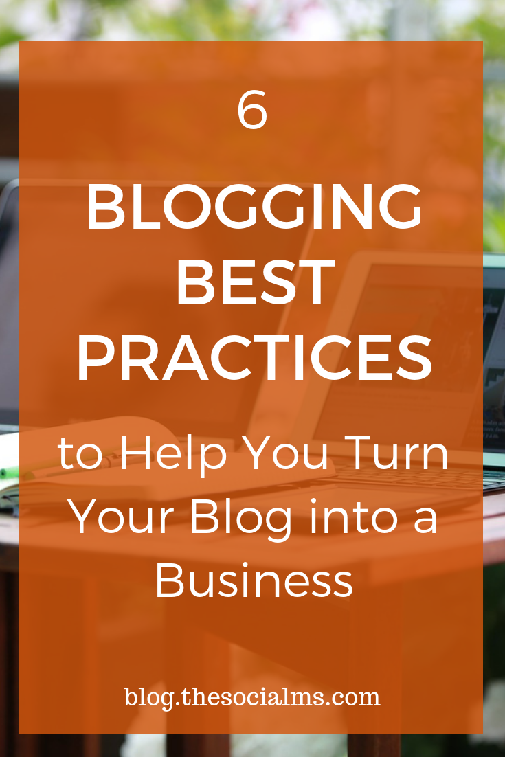 Blogging is fun and it is a lifestyle. But blogging is also a business. If you want to turn your blog into a business many bloggers have to slightly change their blogging approach. These Blogging best practices can help you to do that. #bloggingtips #startablog #bloggingbusiness #bloggingforbeginners #bloggingsuccess #bloggingadvice