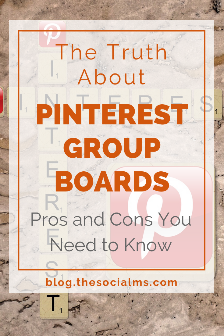 Are Pinterest group boards a good strategy for Pinterest marketing success? Here are the pros and cons you need to know about Pinterest group boards for your Pinterest marketing strategy #pinteresttips #pinterestmarketing #pintereststrategy #pinterest