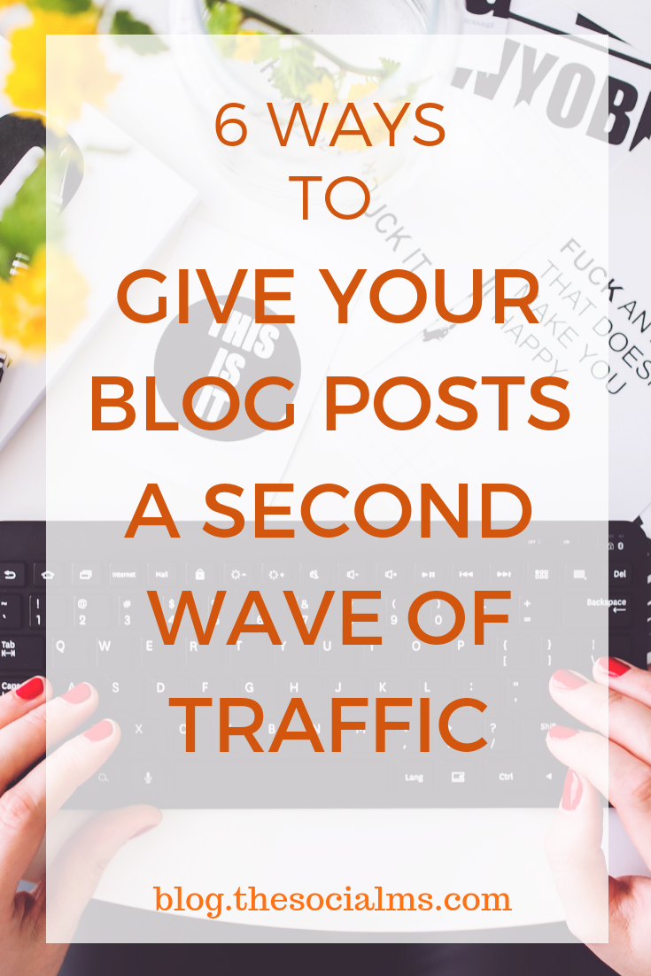 Do your blog posts deserve more attention? Here is how to give your blog posts a new wave of blog traffic with some crazy effective strategies. #bloggingtips #blogtraffic #trafficgeneration #onlinebusiness