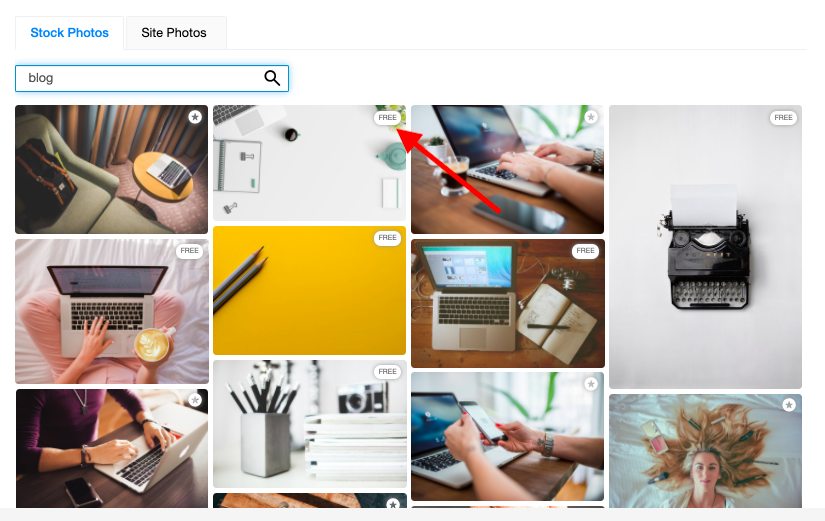 choose images from stock photo library