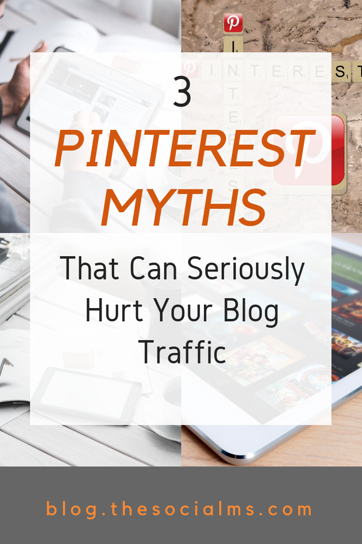 Some common Pinterest advice is outdated and wrong. Here are the three most important Pinterest myths you should not fall for. Using Pinterest for traffic generation can be awesome - but it can also be very frustrating. #pinteresttips #pinterestmarketing #pinteresttraffic #blogtraffic