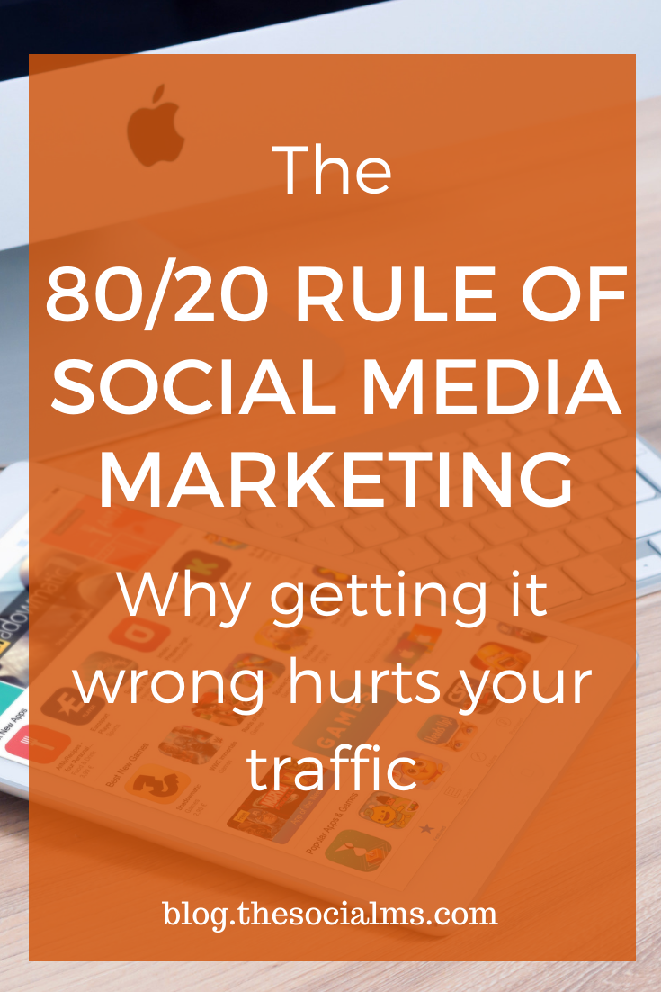 If you are promoting your blog, product or brand via social media, you have probably stumbled across the 80/20 rule of social media marketing. But the chances are high that you have heard this rule all wrong. #socialmedia #socialmediatips #socialmediamarketing