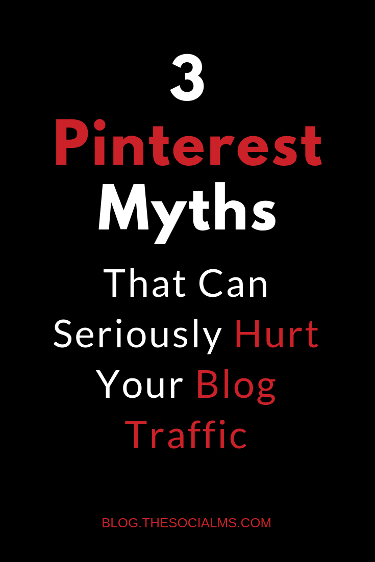 Some common Pinterest advice is outdated and wrong. Here are the three most important Pinterest myths you should not fall for. Pinterest marketing is tricky, you have to know which Pinterest tips are important and work and which Pinterest advice simply is outdated and can hurt your Pinterest success. #pinterest #pinterestmarketing #pinteresttips #pinteresttraffic