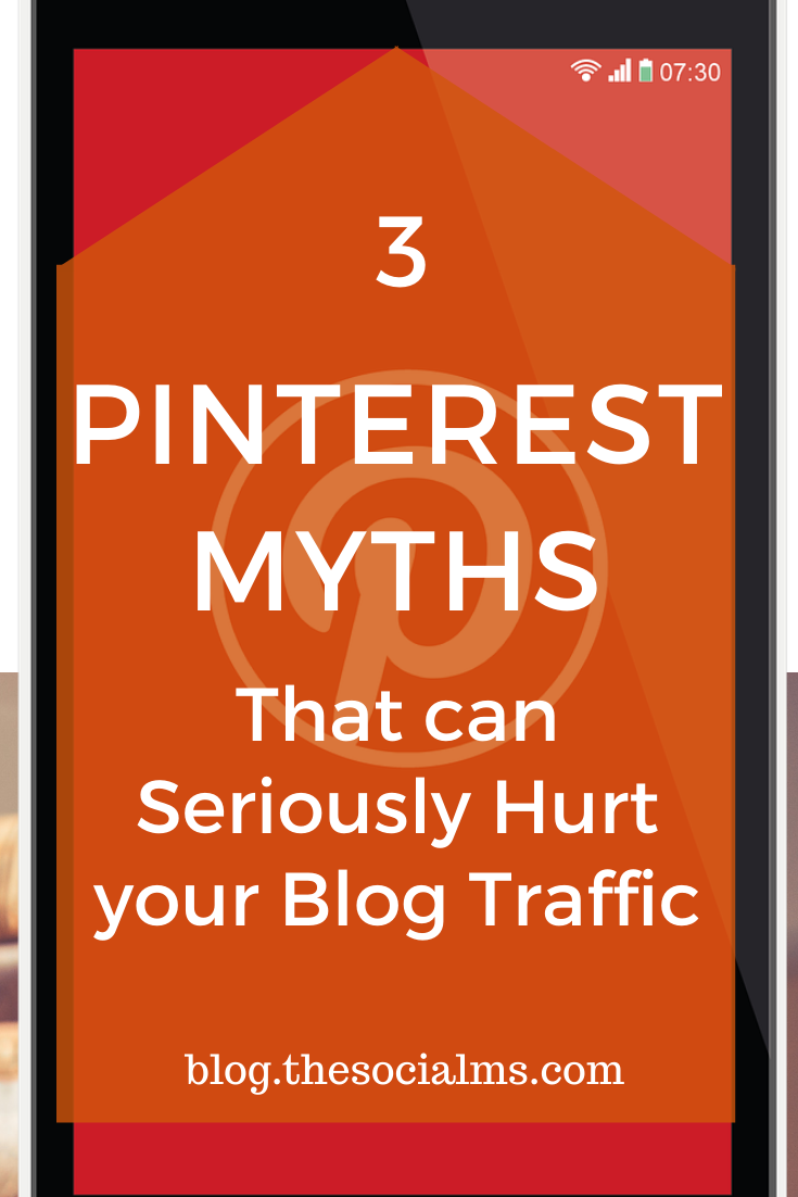 There is so much advice to be found about Pinterest and marketing on Pinterest that is hard to know which tips are still relevant and which are outdated - or even wrong. You have to figure out which advice to follow and which tips rather belong to the category Pinterest myths: Some of the outdated or wrong tips can seriously hurt all your traffic generation efforts. #pinterest #pinteresttips #pinterestmarketing #socialmedia #socialmediatips #socialmediamarketing