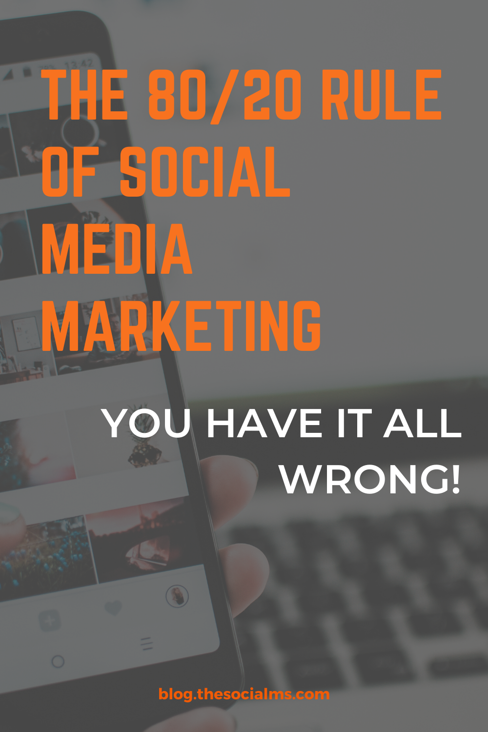If you are promoting your blog, product or brand via social media, you have probably stumbled across the 80/20 rule of social media marketing.  But the chances are high that you have heard this rule all wrong. #socialmedia #socialmediatips #socialmediamarketing #socialmediastrategy #digitalmarketing