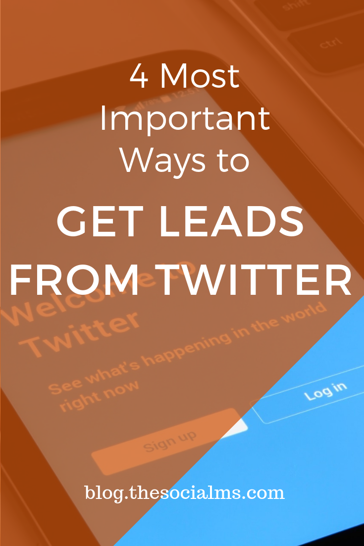 Twitter is a great place to get leads. People are using Twitter for lead generation in almost any niche. Here are the most effective ways to get lads from Twitter #leadgeneration #twitter #twittermarketing #onlinebusiness #twittertips
