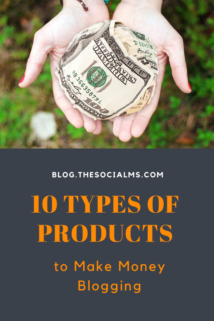 As a blogger, there is always one question: how can you make a little money with your blog. Then you need something to sell to help you to make money blogging. Here are 10 ideas for products that you can create and offer on your blog. #bloggingtips #blogging101 #makemoneyblogging #bloggingformoney #startablog #bloggingforbeginners
