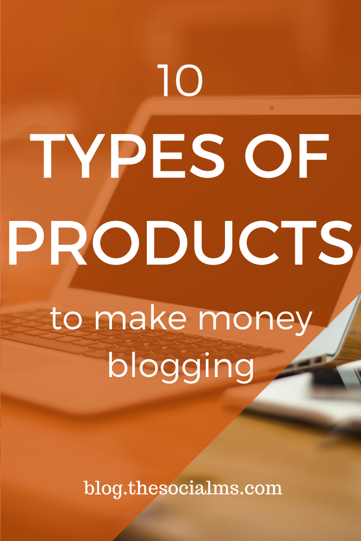 As a blogger, there is always one question: how can you make a little money with your blog. Maybe you even want to turn your blog into your main job. In both cases, you need something to sell to help you to make money blogging. Here are 10 types of products you can sell on your blog. #makemoneyblogging #onlinebusiness #bloggingformoney #blogging101 #bloggingforbeginners #startablog