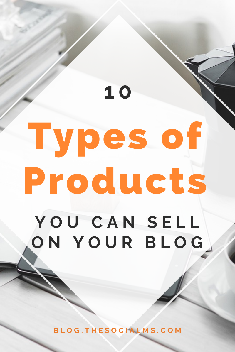 If you want to turn your blog into a business, you need something to sell. Here are 10 ideas for products that you can create and offer on your blog. #makemoneyblogging #bloggingformoney #onlinebusiness #digitalproducts #bloggingbusiness