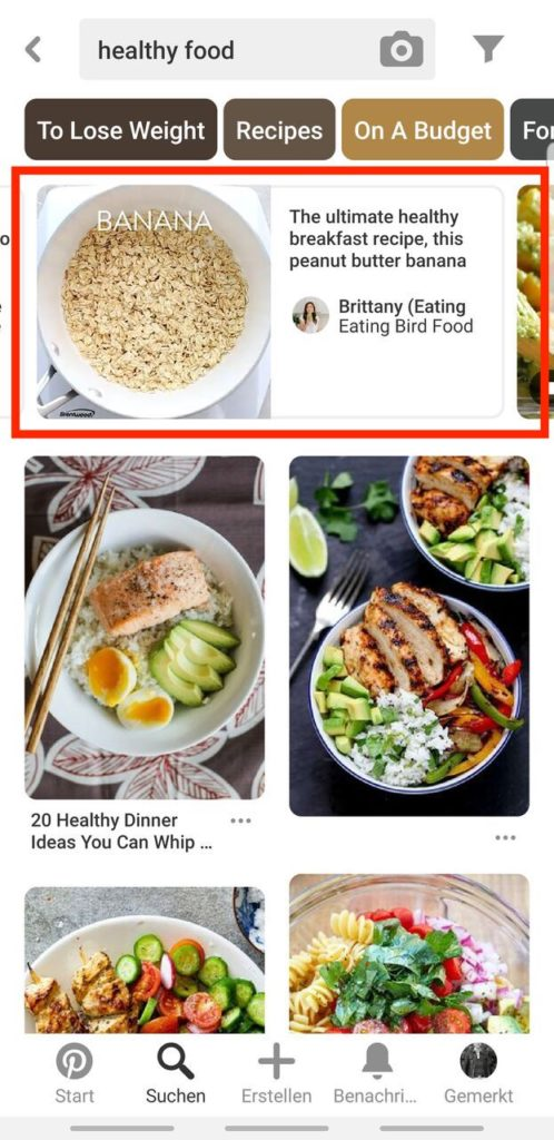 Pinterest Video Pins Mobile