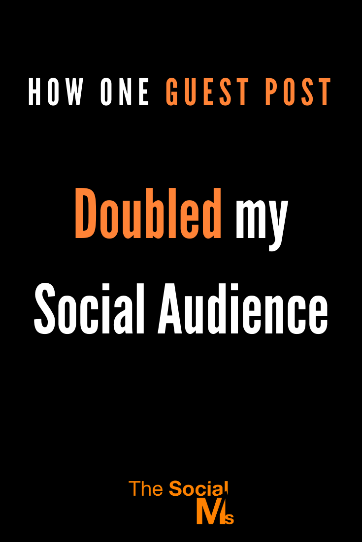 It does not take many guest posts to reach some great results. Here is how a single guest post can help you grow your social media audience. #guestposting #guestblogging #loggingtips #socialmedia #socialmediamarketing #smallbusinessmarketing #startupmarketing