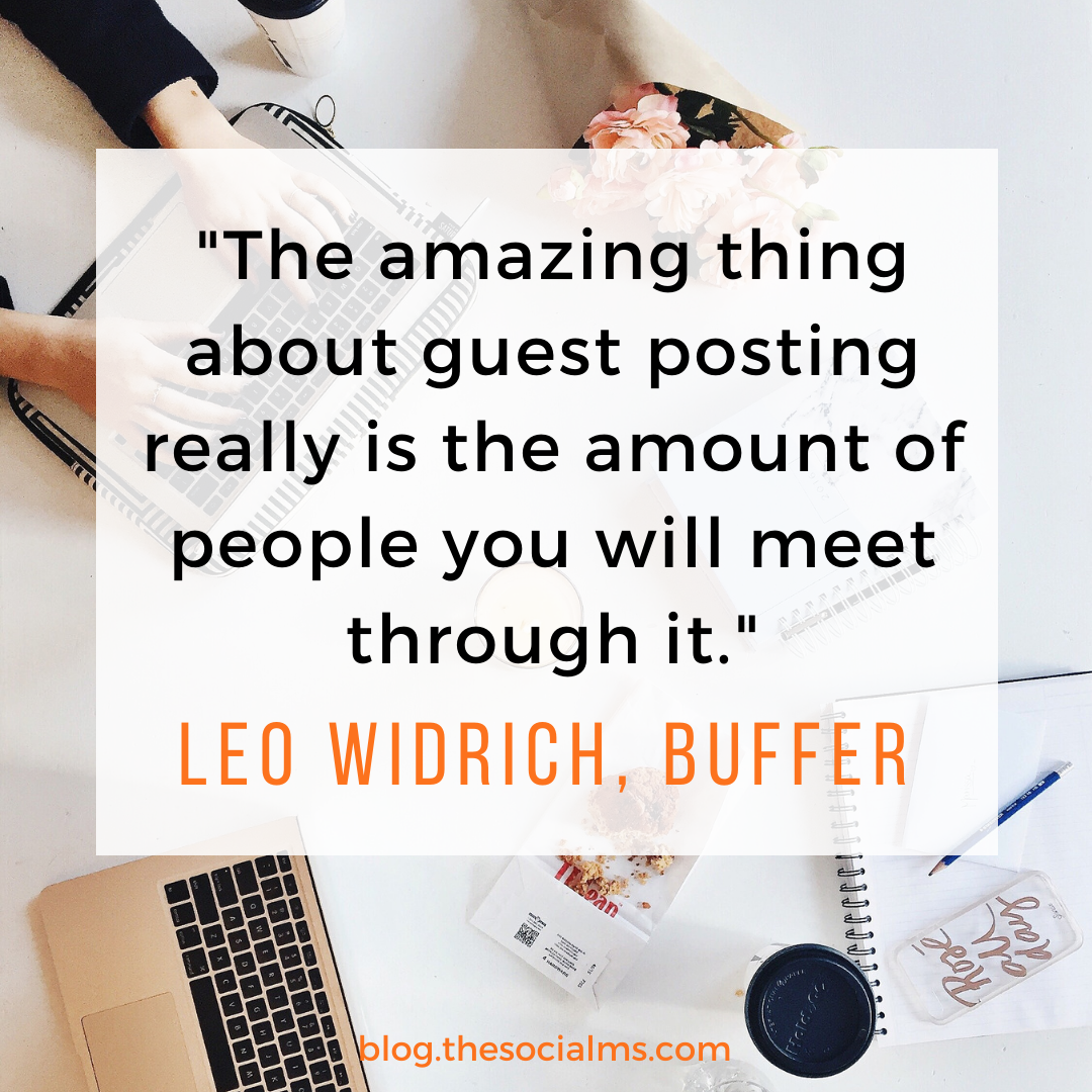 quote leo widrich about guest blogging
