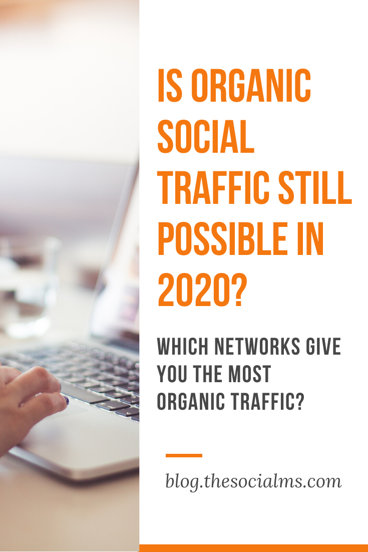 Organic social media traffic is what we talk about when we talk about all traffic from social networks that is not based on advertising.  And the amount of organic social media traffic that all networks are giving to its users is dropping. Here are the social networks that can still give you organic traffic. #socialtraffic #blogtraffic #trafficgeneration #socialnetworks #socialmediatips #socialmedia