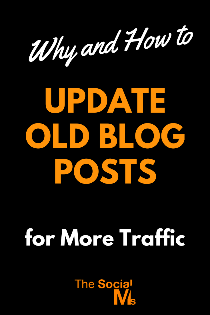 Have you been blogging for a while? Do you already have a fair number of blog posts published on your blog? Then these old posts contain a huge traffic opportunity and you should update old blog posts. #bloggingtips #blogwriting #blogpostcreation #updatingblogposts #blogging101 #startablog #bloggingforbeginners