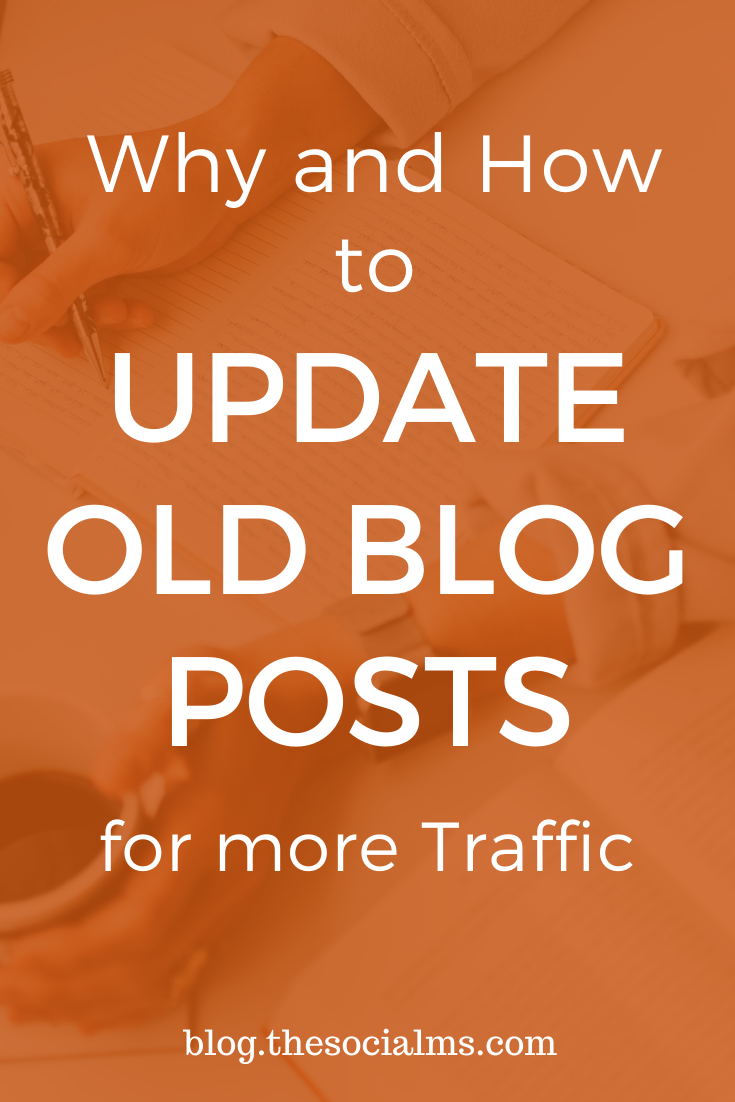 Updating content is a lot of work. But if you do it right, you can earn a ton of traffic, trust, and branding through updating blog posts. Make an educated and strategic decision on which blog posts you should update and what updates you should make. #updatingblogposts #blogwriting #blogpostcreation #createcontent #bloggingforbeginners #blogging101 #startablog