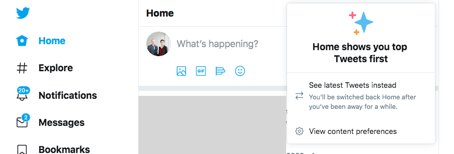 How to set the Twitter feed
