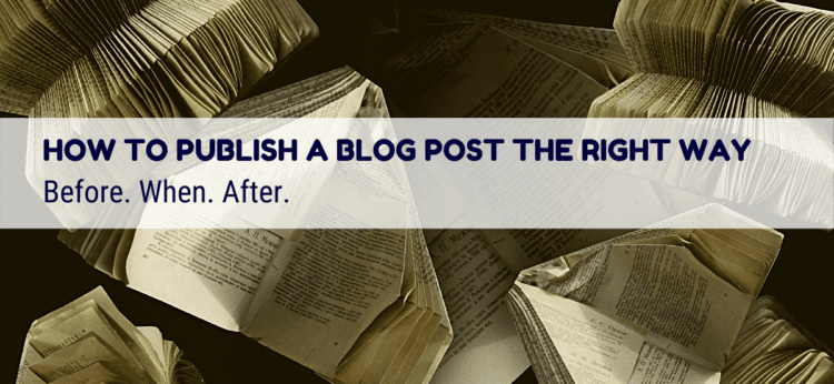 Publish a blog post