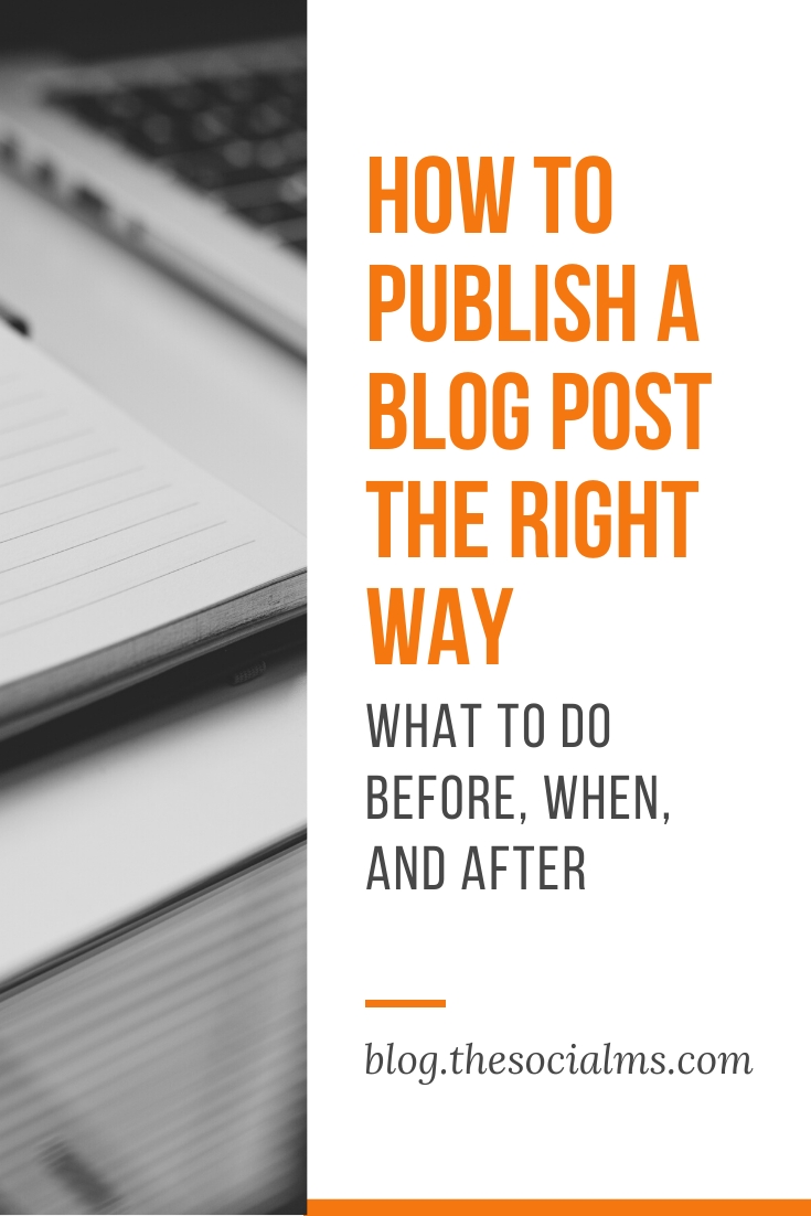 "When you publish a blog post, it's essential to do it the right way. Only 10 percent of ""Blogging"" is about blogging, the rest is about distribution. And that is true for every part of blogging - including the creation of content and the publication of content. Here is what you need to do before, when and after you publish a blog post. #blogpostcreation #blogwriting #contentcreation #blogging101 #startablog #bloggingtips"