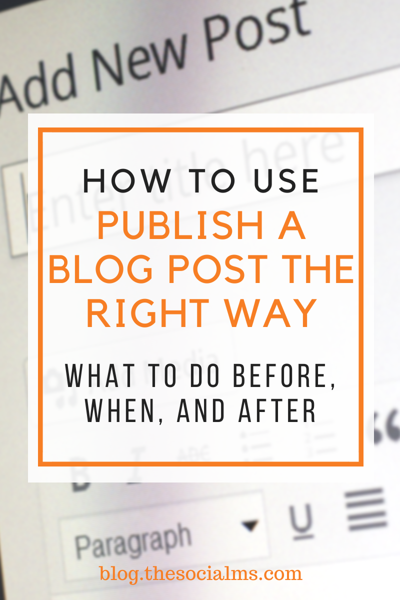 blogging is only 10 percent about writing blog posts. The other 90 percent is about distributing your content. Your process when you create and publish a blog post should reflect that. #bloggingtips #blogging101 #createablogpost #blogpostcreation #blogwriting #startablog #contentcreation