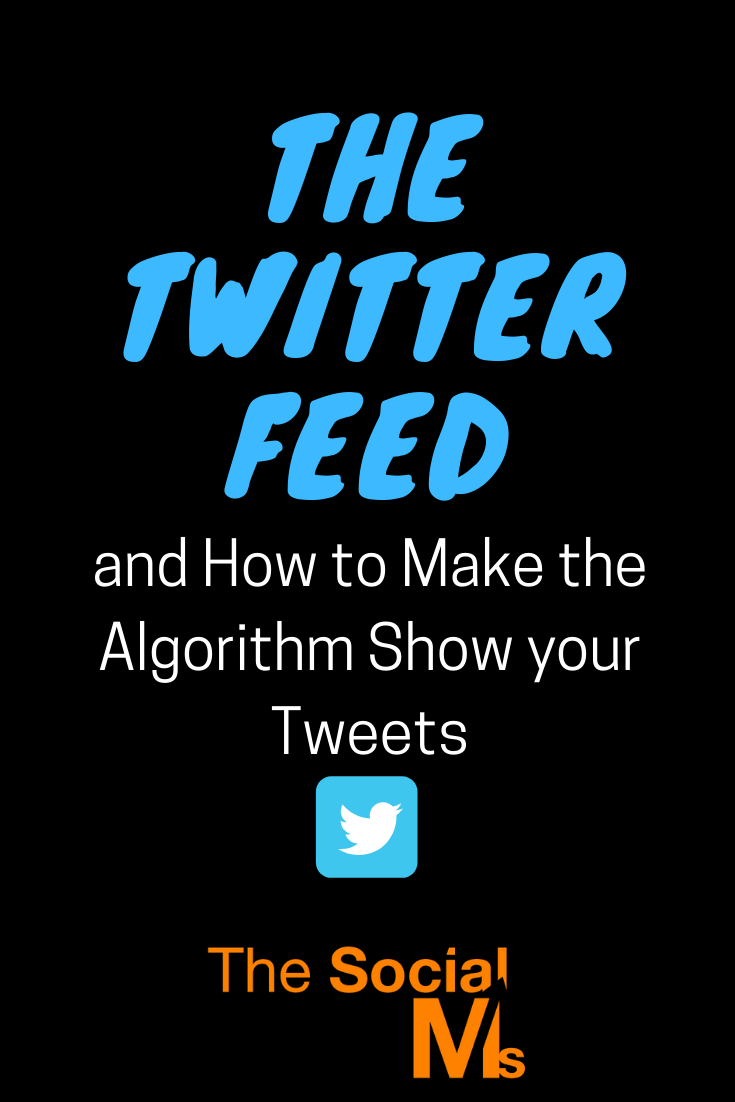 Twitter was one of the last social networks to introduce an algorithm based Twitter feed. Here is all you need to know about the Twitter feed, the Twitter algorithm and how to make your tweets show up in the feed of your Twitter followers. #twitter #twittertips #twittermarketing #twitterstrategy #ocialmediamarketing #socialmediatips