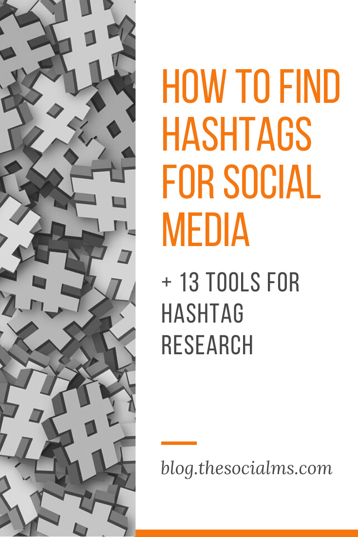 This post is about hashtag research and gives a variety of answers to the question of how to find the best hashtags for your social media! #findhashtags #hashtagresearch #hashtag #hashtags #socialmediapost #socialmediamarketing #socialmediatips #instagramtips