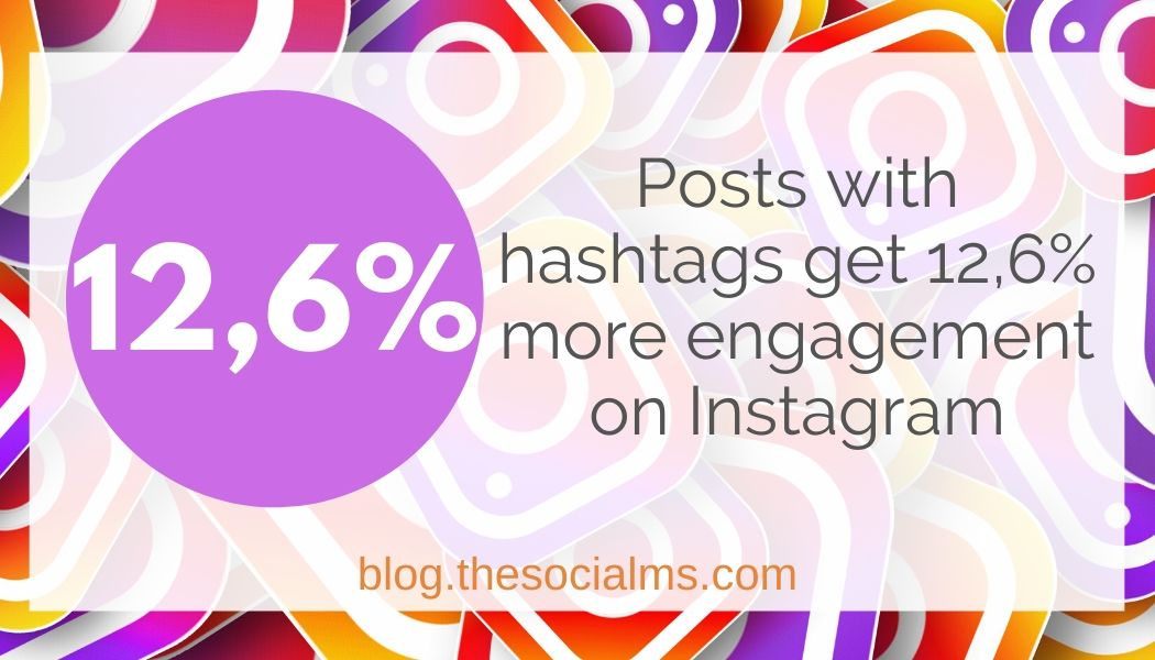 posts with hashtags get more instagram engagement