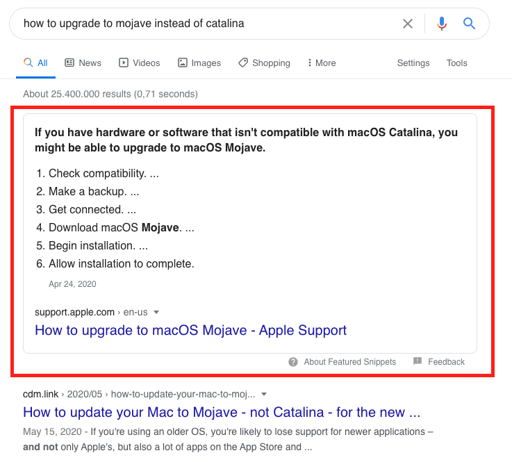 Highlighted How-Tos in Google Search