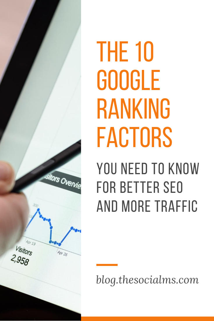 If you are looking for traffic from Google search and want to up your SEO game, you need to know about Google ranking factors. Here are the 10 most important SEO ranking factors that you need to know for more traffic from Google search. #seo #googlesearch #searchengineoptimization #searchtraffic #trafficgeneration #seohacks #seotips #rankingfactors #seofactors