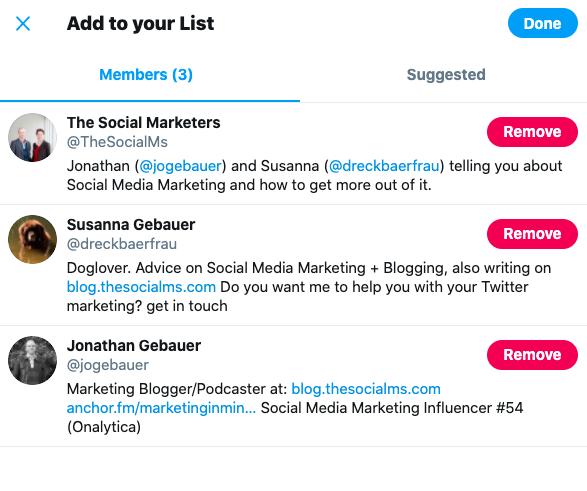 twitter list members
