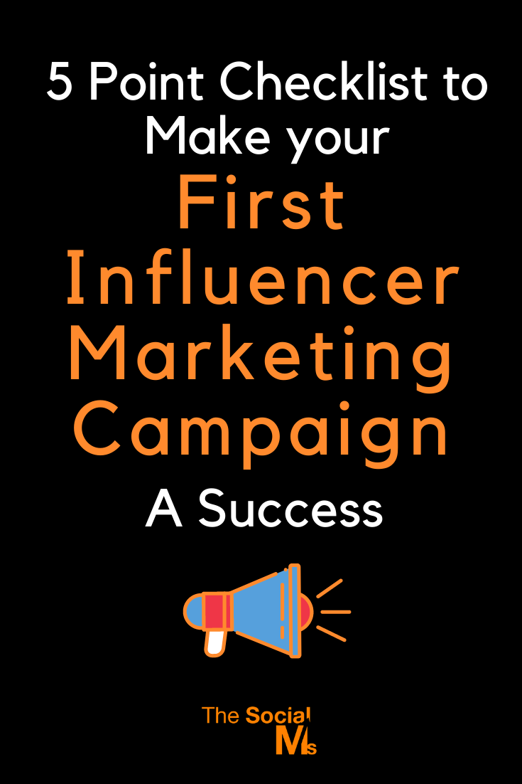 Influencer campaigns work brilliantly when used in conjunction with other forms of marketing, such as content marketing and social media campaigns. Here is your 5 point checklist to make sure that your first influencer marketing campaign is right on track. #influencermarketing #marketingcampaign #influencermarketingtips #influencermarketinghacks #influencermarketingcampaign #smallbusinessmarketing #digitalmarketingcampaigns