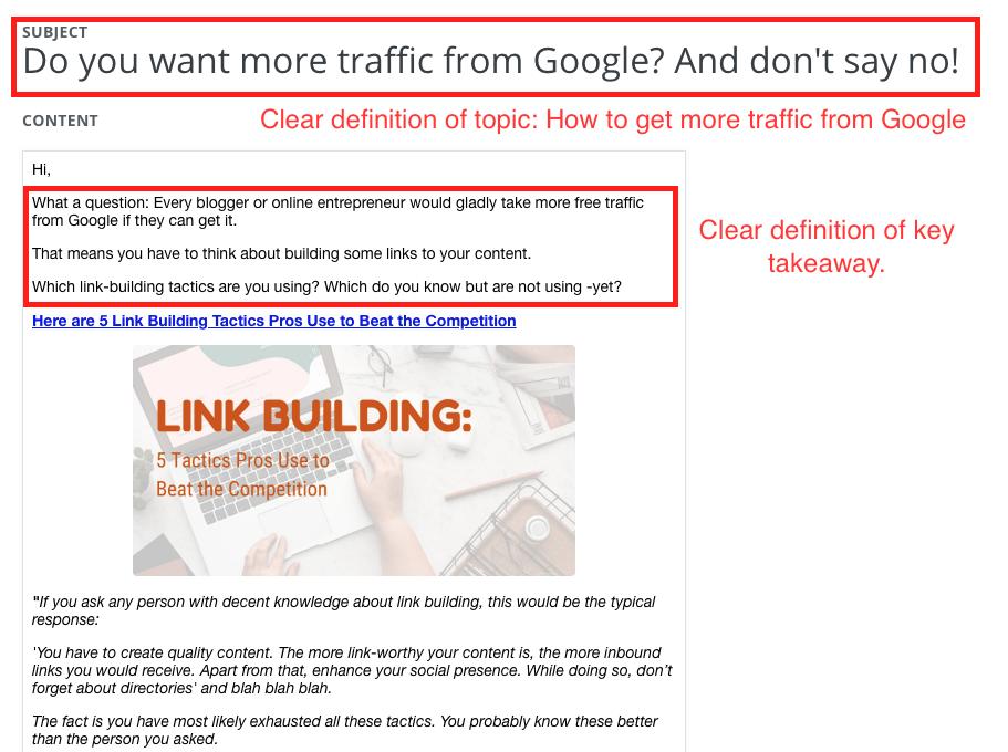 Newsletter Emails - Key Takeaways