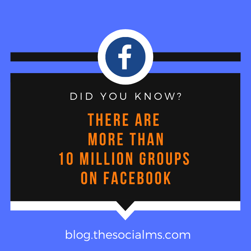 There are more than 10 million groups on Facebook.
