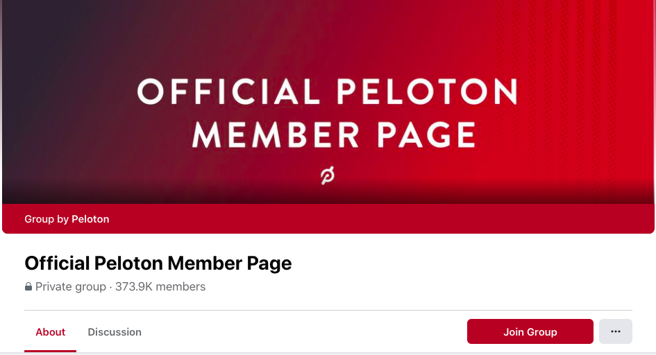 Facebook Group Peloton