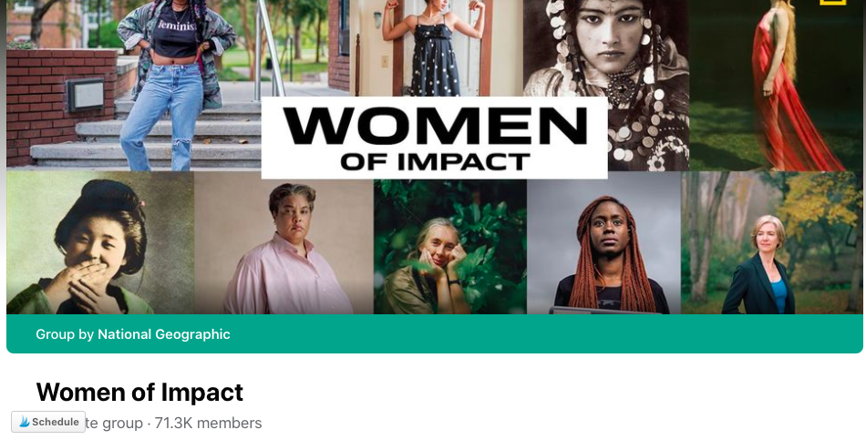 Facebook Group Women of Impact