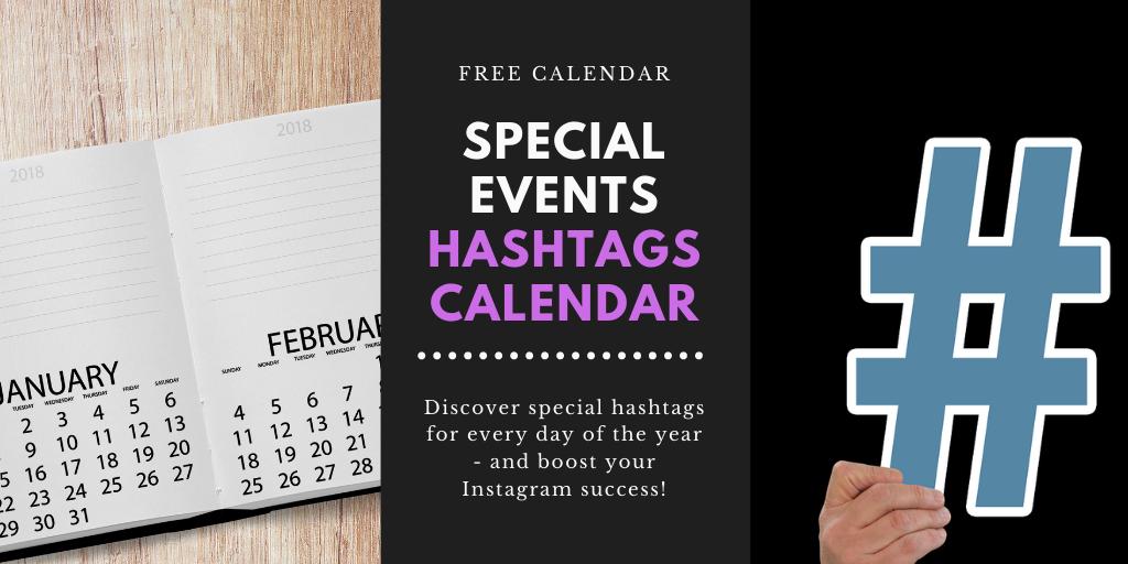 Free Hashtag Calendar