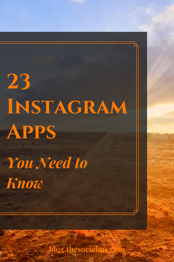 There are endless Instagram apps to make your Instagram activity more fun - and more successful. Instagram is so popular that new apps are coming up all the time. Here are 23 Instagram apps you need to know! #instagram #instagramapps #instagramtips #instagramtools #instagrambasics