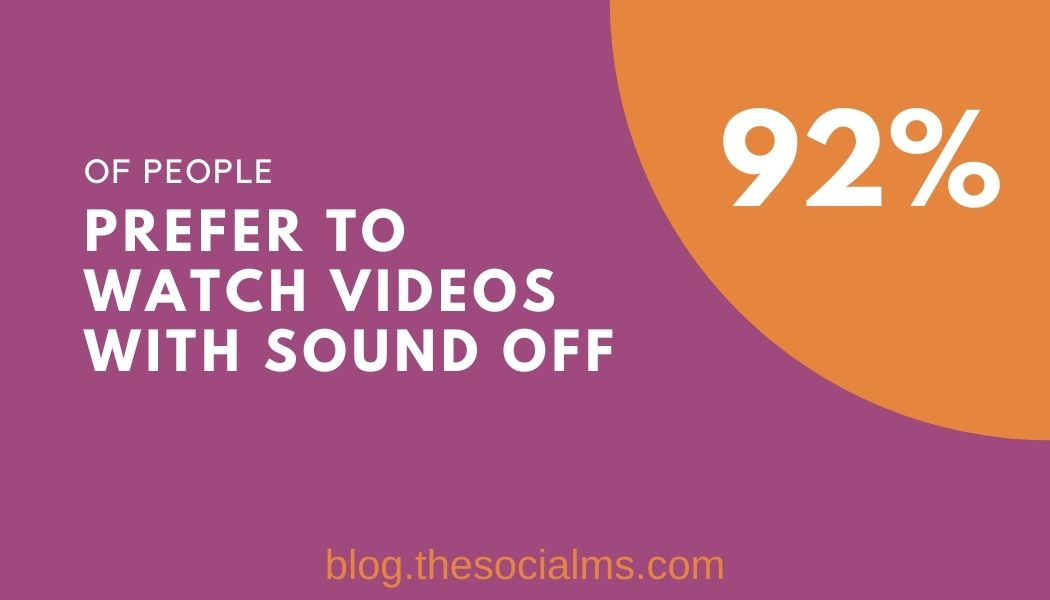 video marketing statistics: people prefer watching videos with sound off