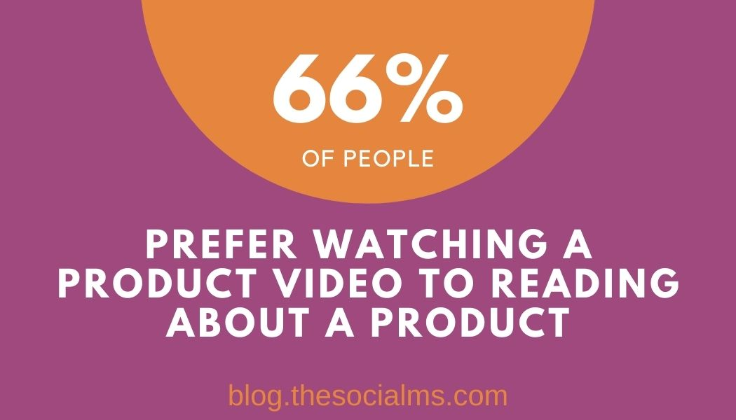video marketing statistics: people prefer watching a video over reading about a product
