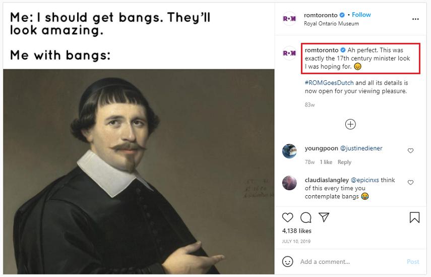 use jokes in social media post captions